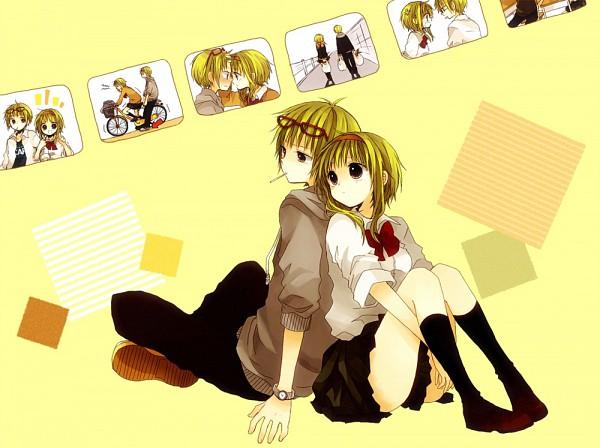 Tags: Anime, An (Pixiv1170947), VOCALOID, GUMO, GUMI, Square, Fanart, Pixiv