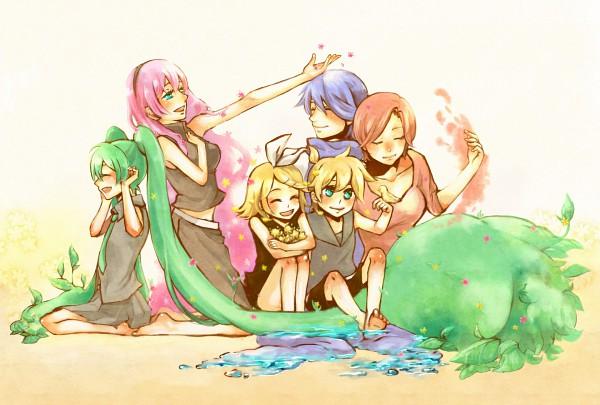 Tags: Anime, VOCALOID, Kagamine Rin, MEIKO (VOCALOID), Megurine Luka, Hatsune Miku, KAITO, Kagamine Len, Artist Request
