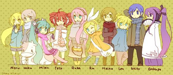 Tags: Anime, Yamo, UTAU, VOCALOID, Yowane Haku, Kagamine Rin, MEIKO (VOCALOID), Kamui Gakupo, Megurine Luka, Hatsune Miku, Kasane Teto, KAITO, Akita Neru