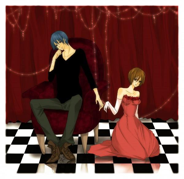 Tags: Anime, Pixiv Id 343298, VOCALOID, MEIKO (VOCALOID), KAITO, Pixiv