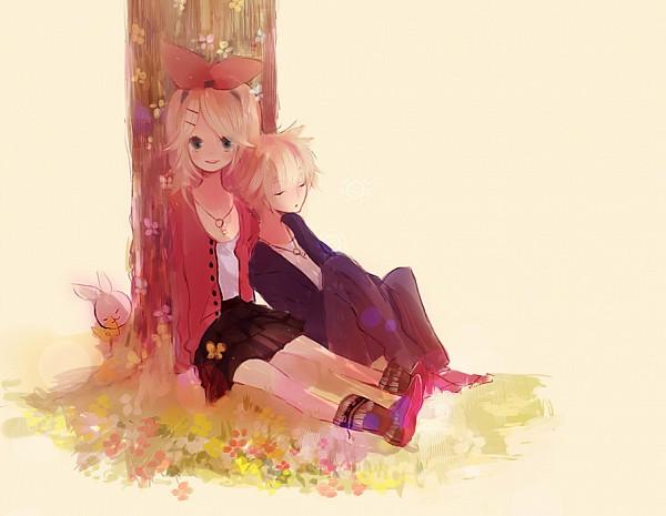 Tags: Anime, VOCALOID, Kagamine Len, Kagamine Rin, Piapro Illustrated, Kagamine Mirrors