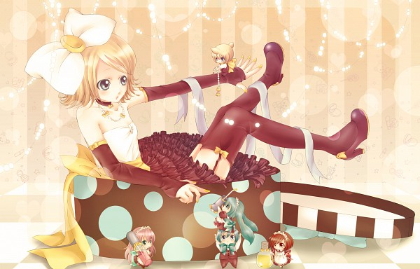 Tags: Anime, VOCALOID, Kagamine Rin, MEIKO (VOCALOID), Megurine Luka, Hatsune Miku, KAITO, Kagamine Len, J-Pop, Artist Request, Perfume (Band)