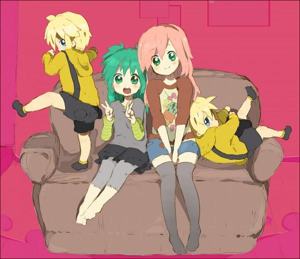 Tags: Anime, Tooi, VOCALOID, Hatsune Miku, Megurine Luka, Kagamine Len, Kagamine Rin