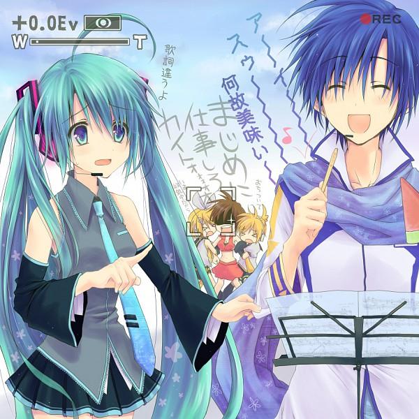 Tags: Anime, Akitsuki Ria, VOCALOID, MEIKO (VOCALOID), Hatsune Miku, KAITO, Kagamine Len, Kagamine Rin, Watermelon Popsicle