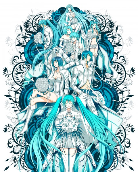 Tags: Anime, Yuuno (Yukioka), VOCALOID, Megurine Luka, Hatsune Miku, KAITO, GUMI, Kagamine Len, Kamui Gakupo, Kagamine Rin, MEIKO (VOCALOID)