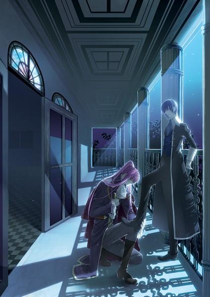 Tags: Anime, Migiwa Hasu, VOCALOID, KAITO, Kamui Gakupo, Cantarella (Song), Fanart, Pixiv, Mobile Wallpaper