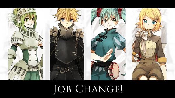 Tags: Anime, Tama Songe, VOCALOID, Hatsune Miku, GUMI, Kagamine Len, Kagamine Rin, Fanart, Facebook Cover, Pixiv