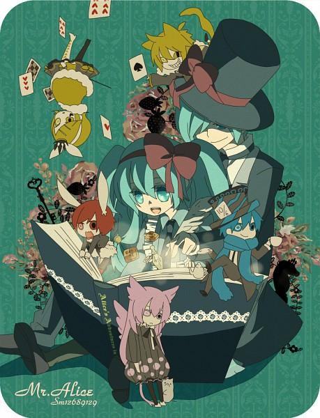 Tags: Anime, Pixiv Id 1003065, VOCALOID, Hatsune Miku, KAITO, Hatsune Mikuo, Kagamine Len, Kagamine Rin, MEIKO (VOCALOID), Megurine Luka, Mr. Alice, Fanart, Pixiv