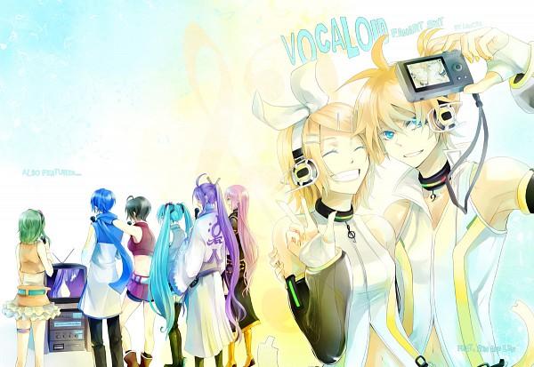 Tags: Anime, Lancha, VOCALOID, Kagamine Len, Kamui Gakupo, Kagamine Rin, MEIKO (VOCALOID), Megurine Luka, KAITO, Hatsune Miku, GUMI, Scifi Collar, Karaoke