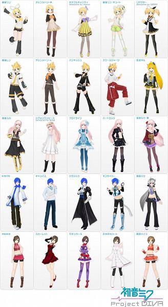 Tags: Anime, Project DIVA 2nd, Project DIVA F 2nd, VOCALOID, Kagamine Rin, Sakine Meiko, MEIKO (VOCALOID), Megurine Luka, KAITO, Akita Neru, Kagamine Len, Yowane Haku, Asymmetrical Clothing