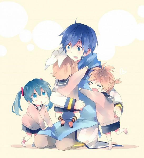Tags: Anime, Ousaka Nozomi, VOCALOID, Kagamine Rin, Hatsune Miku, KAITO, Kagamine Len, Observing, Pixiv, Fanart