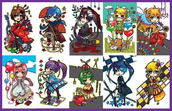 Tags: Anime, Black★Rock Shooter, Dance Dance Revolution, Project DIVA 2nd, Project DIVA F, Project DIVA Extend, VOCALOID, Kagamine Rin, MEIKO (VOCALOID), GUMI, Megurine Luka, Hatsune Miku, KAITO