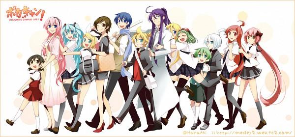 Tags: Anime, Haru Aki, VOCALOID, KAITO, GUMI, Kagamine Len, Lily (VOCALOID), Kamui Gakupo, Utatane Piko, Kagamine Rin, Kaai Yuki, MEIKO (VOCALOID), Ryuto