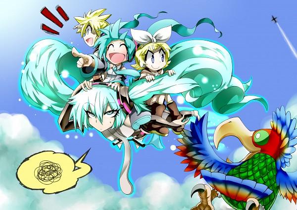 Tags: Anime, Gibuchoko, Q Pixiv: Miku Append, VOCALOID, Kagamine Len, Kagamine Rin, Hatsune Miku, Quarterly Pixiv, Append, Pixiv