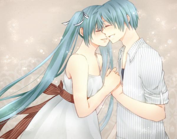 Tags: Anime, VOCALOID, Hatsune Miku, Hatsune Mikuo