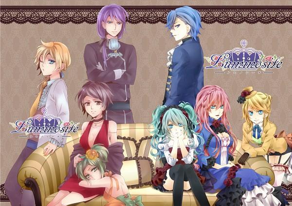 Tags: Anime, Sugarxilno, VOCALOID, KAITO, GUMI, Kagamine Len, Kamui Gakupo, Kagamine Rin, MEIKO (VOCALOID), Megurine Luka, Hatsune Miku, Fanart, Pixiv
