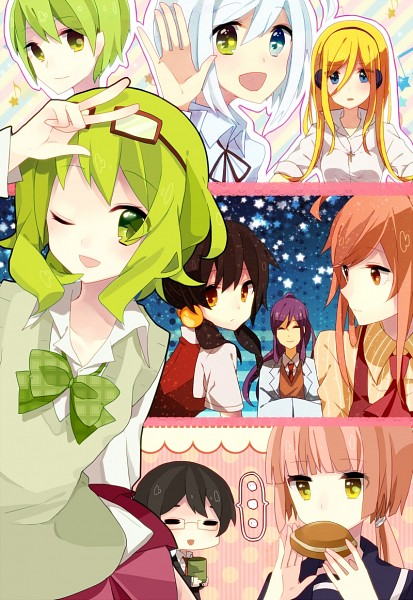 Tags: Anime, Hanasaki Manio, VOCALOID, SF-A2 miki, Lily (VOCALOID), GUMI, Utatane Piko, GUMO, Kamui Gakupo, Ryuto, Kaai Yuki, Nekomura Iroha, Hiyama Kiyoteru