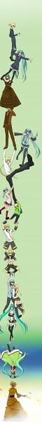 Tags: Anime, Pixiv Id 1654770, VOCALOID, Kagamine Len, Kagamine Lenka, Hatsune Mikuo, Hatsune Miku, Hanging Chain, Append, Song-Over, Pixiv, Fanart, Trust Me