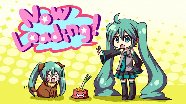 Tags: Anime, VOCALOID, Hatsune Miku, Hachune Miku, Wallpaper