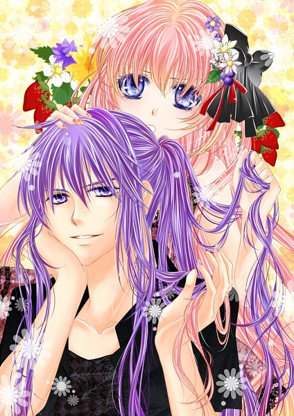 Tags: Anime, Sugisaki Yukiru, VOCALOID, Megurine Luka, Kamui Gakupo, Mobile Wallpaper
