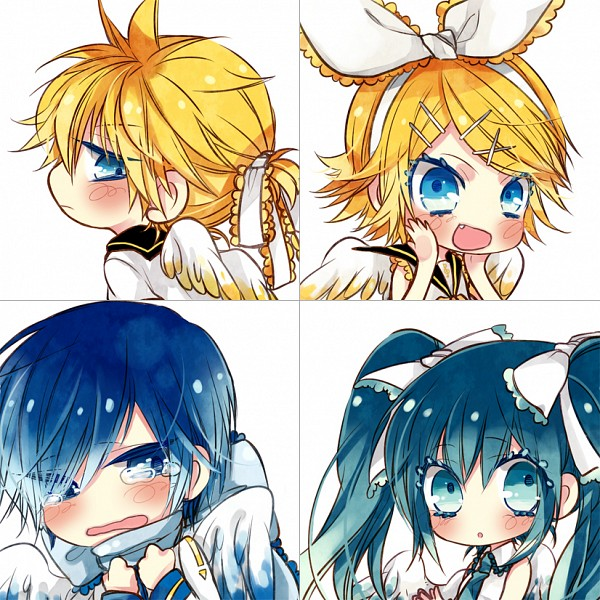 Tags: Anime, Y.tea, VOCALOID, Hatsune Miku, KAITO, Kagamine Len, Kagamine Rin