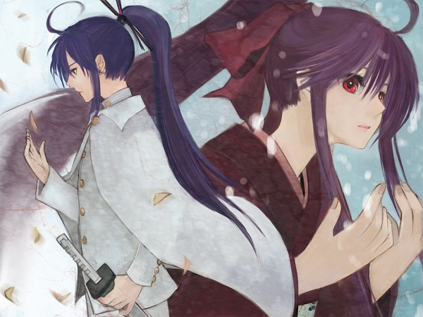 Tags: Anime, Honoka (Pixiv130846), VOCALOID, Kamui Gakupo, Kamui Gakuko, Pixiv, Fanart