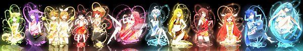 Tags: Anime, Achiki, VOCALOID, KAITO, GUMI, Lily (VOCALOID), Nekomura Iroha, Kagamine Len, Kaai Yuki, Kamui Gakupo, Kagamine Rin, SF-A2 miki, MEIKO (VOCALOID)