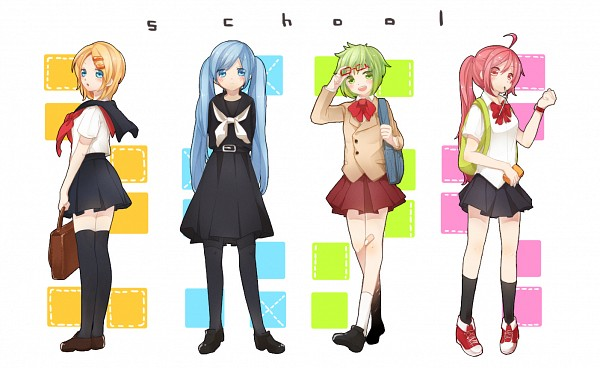 Tags: Anime, Juugonichi, VOCALOID, Hatsune Miku, SF-A2 miki, GUMI, Kagamine Rin