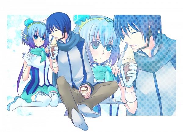 Tags: Anime, Terai Arina (TRIC), VOCALOID, Aoki Lapis, KAITO, Lapis Lazuli