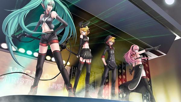 Tags: Anime, Rotix, VOCALOID, Megurine Luka, Kagamine Len, Kagamine Rin, Hatsune Miku, Stage, Facebook Cover