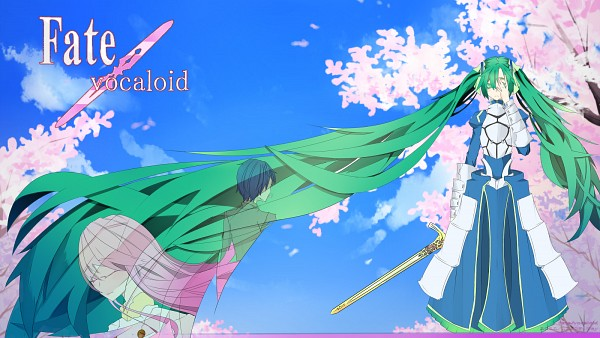 Tags: Anime, Pixiv Id 1114129, VOCALOID, Hatsune Miku, Megurine Luka, KAITO, Saber (Fate/stay night) (Cosplay), Facebook Cover, Wallpaper