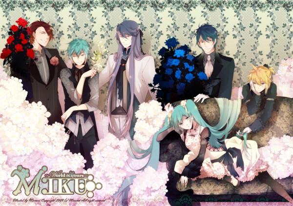 Tags: Anime, Mirunai, VOCALOID, AKAITO, Hatsune Mikuo, KAITO, MEITO, Kagamine Len, Hiyama Kiyoteru, Mokaito, Kamui Gakupo, Hatsune Miku, Reverse Harem