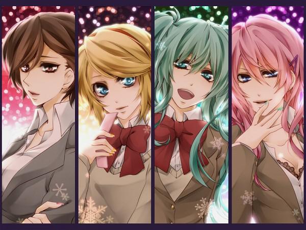 Tags: Anime, Kasai Iori, VOCALOID, MEIKO (VOCALOID), Megurine Luka, Kagamine Rin, Hatsune Miku, Gensou Airly, Your Highness☆My Princess
