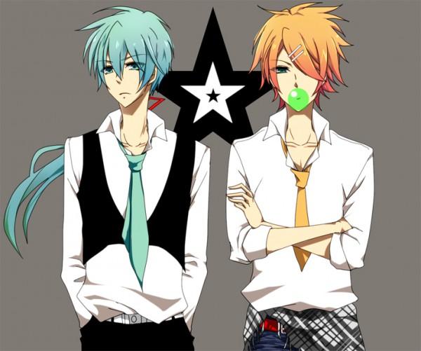 Tags: Anime, Pixiv Id 505451, VOCALOID, Kagamine Rinto, Hatsune Mikuo, Pixiv