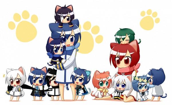Tags: Anime, Norarin, Project DIVA 2nd, VOCALOID, Hume, AKAITO, TAITO (VOCALOID), KAITO, KOITO, Naito (Riri Kaito), Naitou, KAGEITO, Howai
