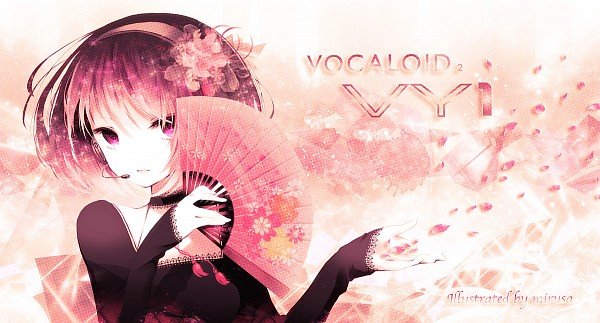 Tags: Anime, Mirusa, VOCALOID, VY1, Pixiv, Facebook Cover, Fanart