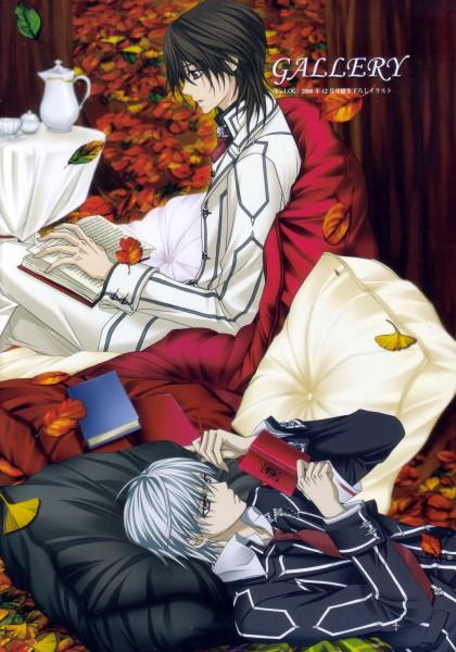 Tags: Anime, Vampire Knight, Kiryuu Zero, Kuran Kaname, Writing, Mobile Wallpaper