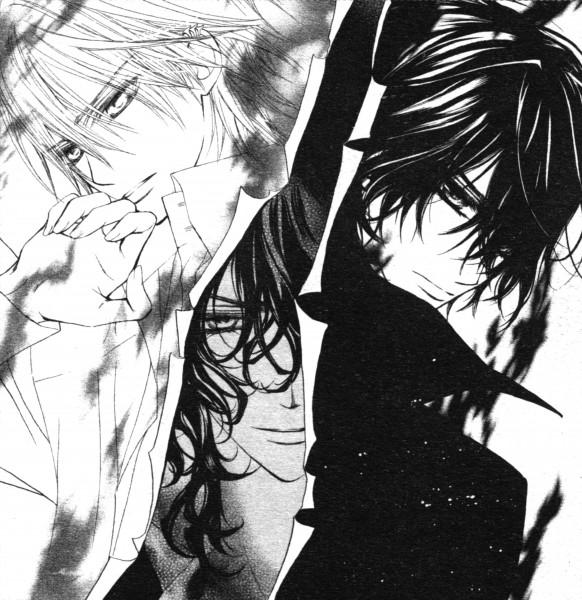 Tags: Anime, Hino Matsuri, Vampire Knight, Kiryuu Zero, Kuran Kaname, Kuran Rido, Manga Page, Scan