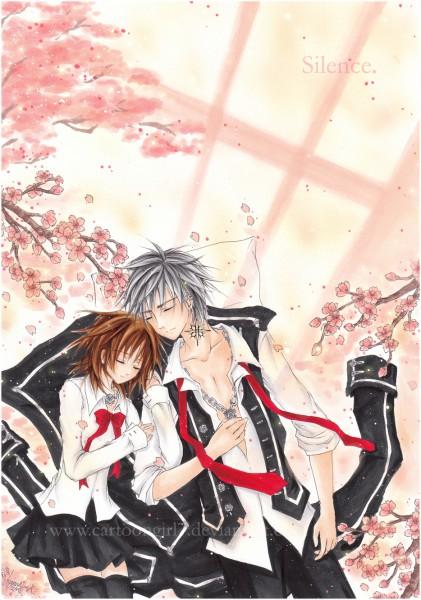 Tags: Anime, Cartoongirl7, Vampire Knight, Kiryuu Zero, Yuki Cross, Mobile Wallpaper, Fanart, deviantART