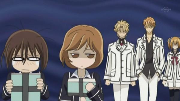 Tags: Anime, Studio DEEN, Vampire Knight, Aidou Hanabusa, Kain Akatsuki, Wakaba Sayori, Yuki Cross, Touya Rima, Screenshot