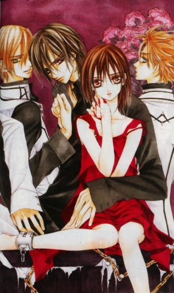 Tags: Anime, Hino Matsuri, Vampire Knight, Kuran Kaname, Aidou Hanabusa, Yuki Cross, Official Art