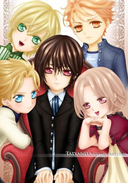 Tags: Anime, Hino Matsuri, Vampire Knight, Kuran Kaname, Aidou Hanabusa, Ichijou Takuma, Souen Ruka, Mobile Wallpaper, deviantART