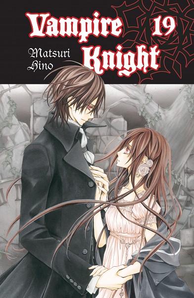 Tags: Anime, Matsuri Hino, Vampire Knight, Kuran Kaname, Yuki Cross, Mobile Wallpaper, Official Art, Manga Cover, Scan