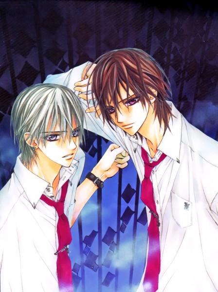 Tags: Anime, Hino Matsuri, Vampire Knight Illustrations, Vampire Knight, Kuran Kaname, Kiryuu Zero, Official Art