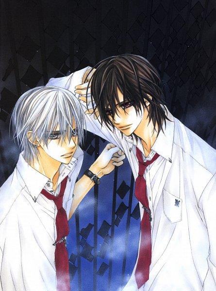 Tags: Anime, Hino Matsuri, Vampire Knight Illustrations, Vampire Knight, Kiryuu Zero, Kuran Kaname, Official Art, Scan