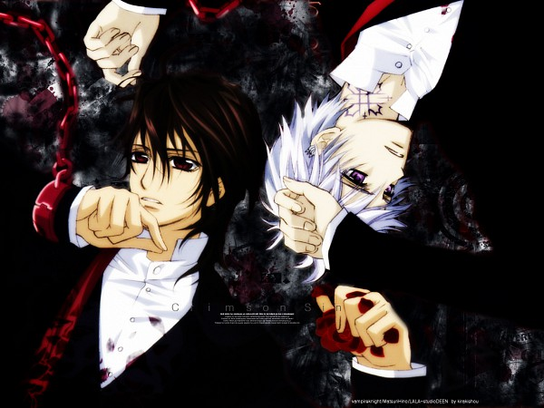Tags: Anime, Vampire Knight, Kuran Kaname, Kiryuu Zero, Wallpaper