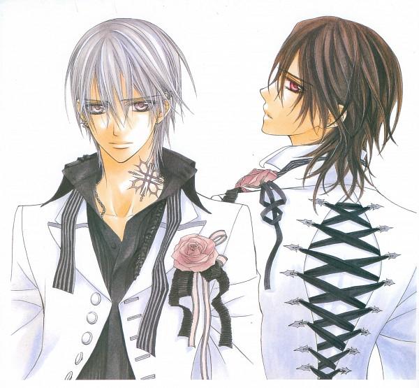 Tags: Anime, Hino Matsuri, Vampire Knight Illustrations, Vampire Knight, Kuran Kaname, Kiryuu Zero, Official Art, Scan