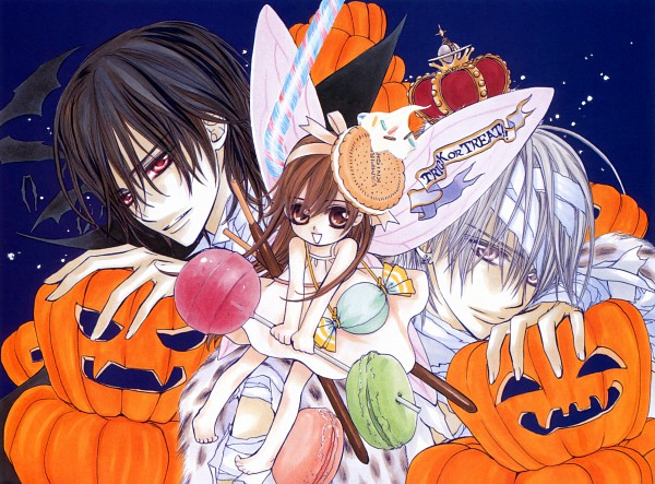 Tags: Anime, Vampire Knight Illustrations, Vampire Knight, Yuki Cross, Kiryuu Zero, Kuran Kaname, Mummy, Scan, Calendar (Source), Wallpaper, Official Art
