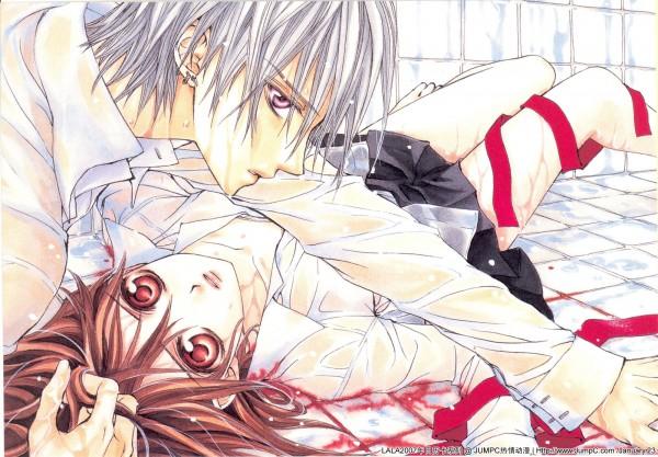 Tags: Anime, Hino Matsuri, Vampire Knight Illustrations, Vampire Knight, Yuki Cross, Kiryuu Zero, Edited, Official Art