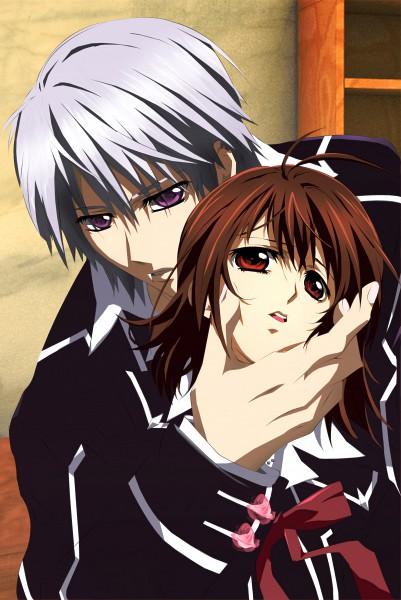 Tags: Anime, Vampire Knight, Yuki Cross, Kiryuu Zero, Mobile Wallpaper